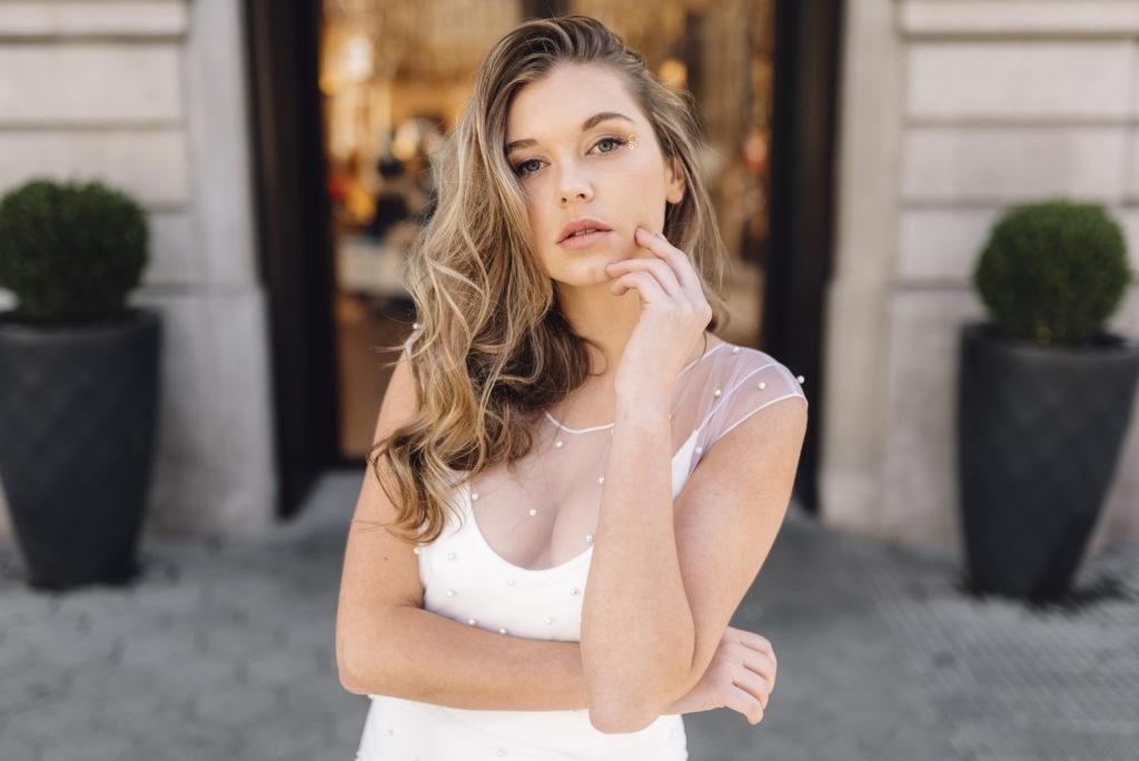 vestidos de novia con perlas