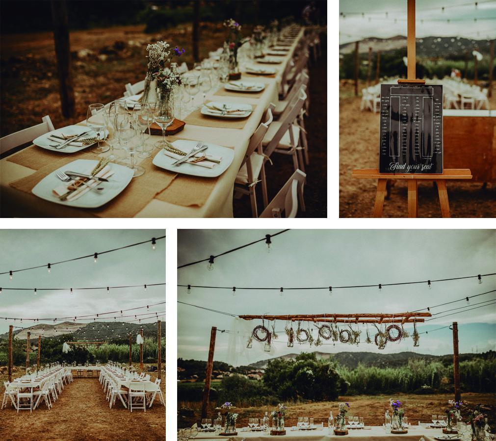 mesas alargadas boda