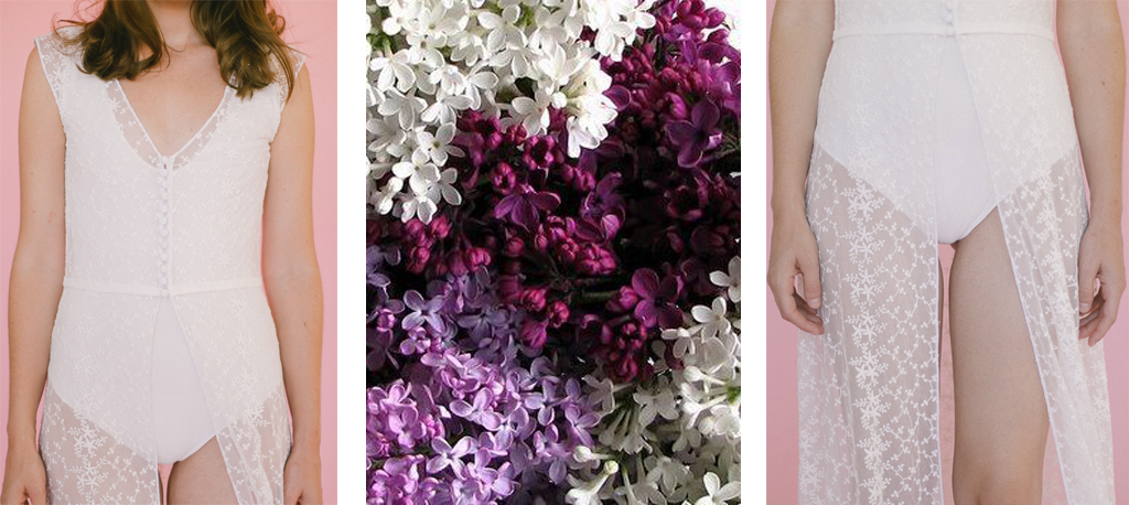 Vestido de novias con flores silvestres