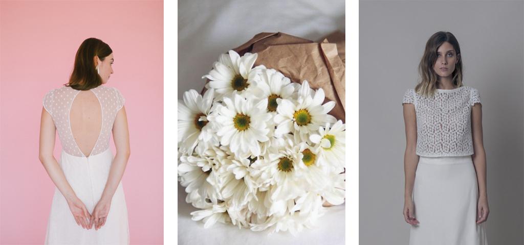Vestidos de novia con margaritas