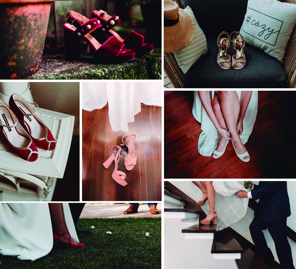 Zapatos de novias de colores