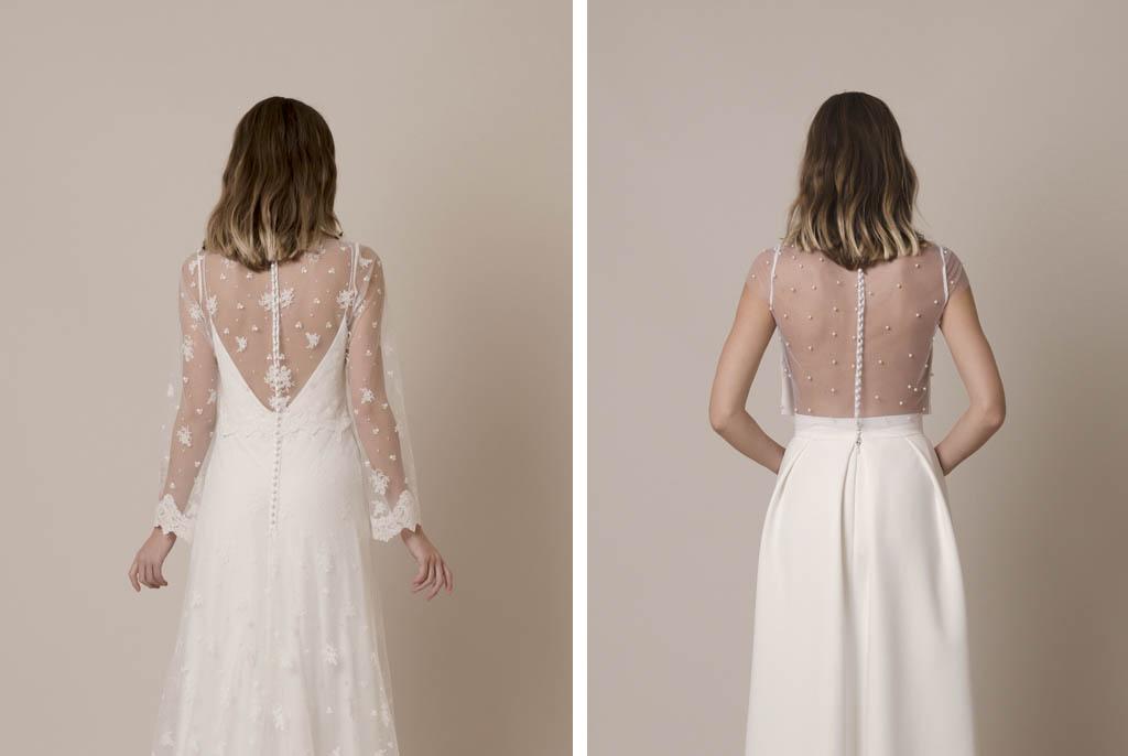 Espalda de novia transparent