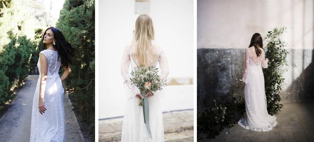 Espalda de novia transparente