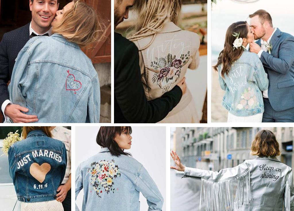 chaqueta personalizada para novia