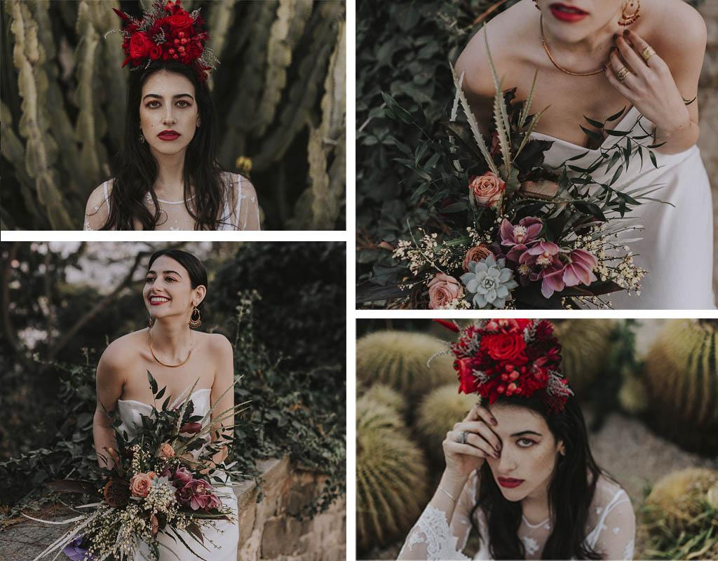 tocados y ramos para novias