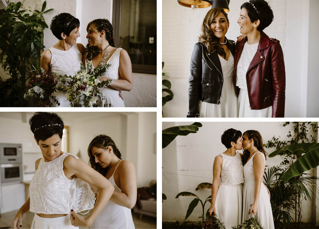 Vestidos naturales para novias