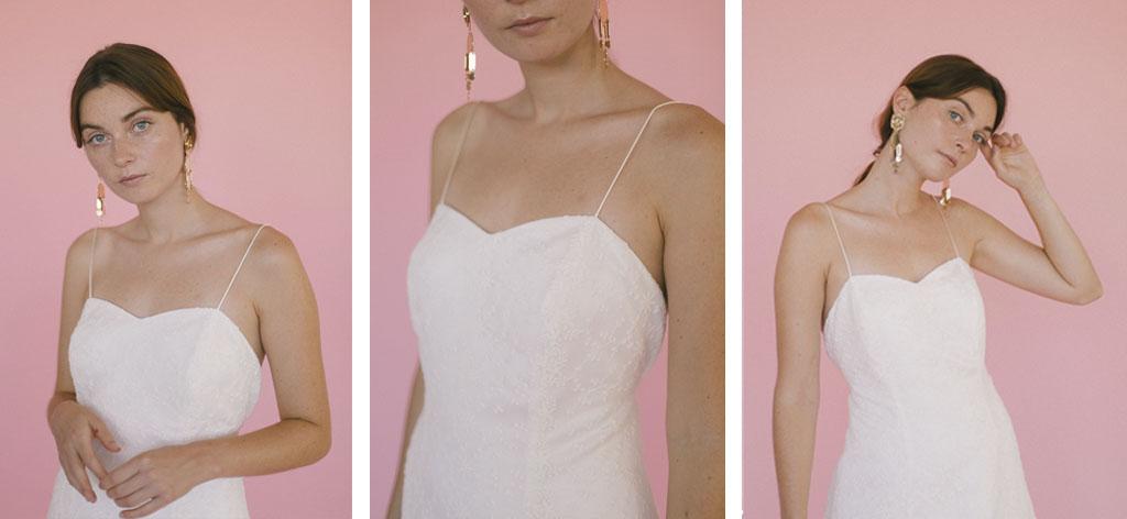 vestido de novia con escote corazon