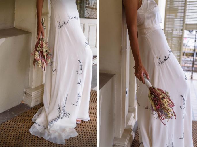 falda bordado personalizado