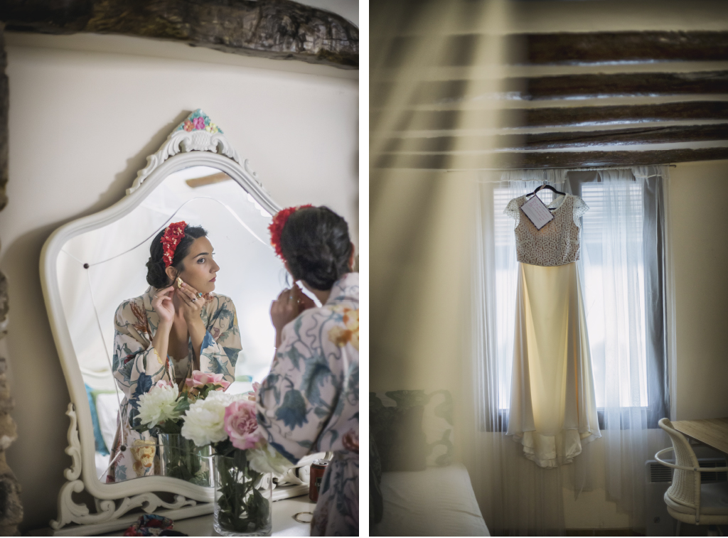 vestido de novia de dos piezas