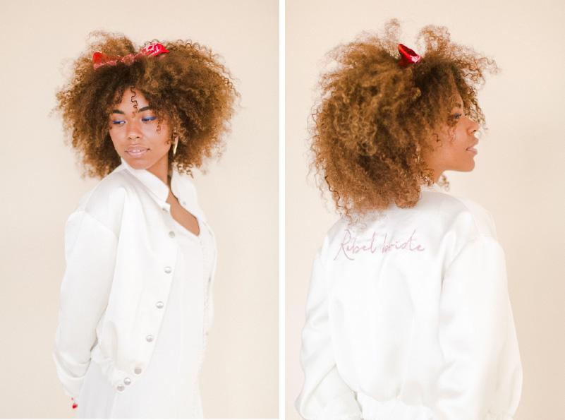 chqueta bordada para novia