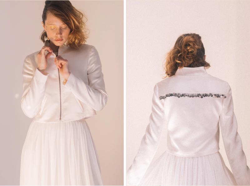 chaqueta bomber para novia